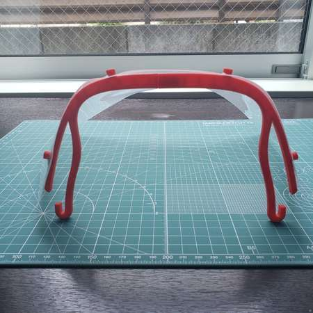 Face Shield for Small 3D Printers
