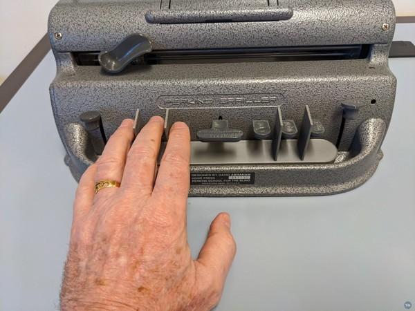 Braille Writer Finger Guide
