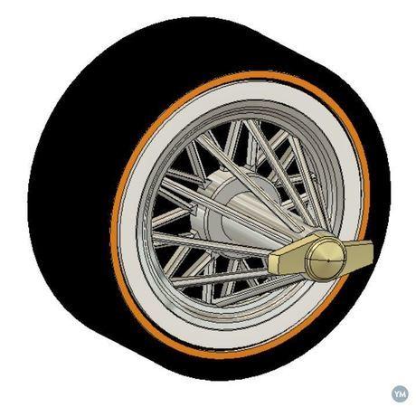 70MM RC Car Spider wheels