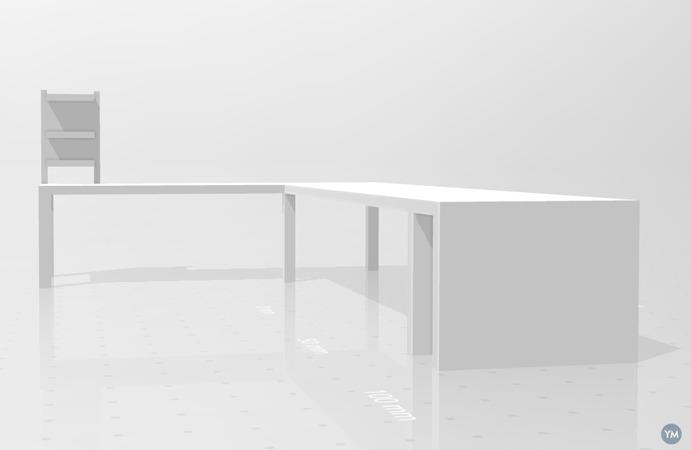 escritorio con estanteria