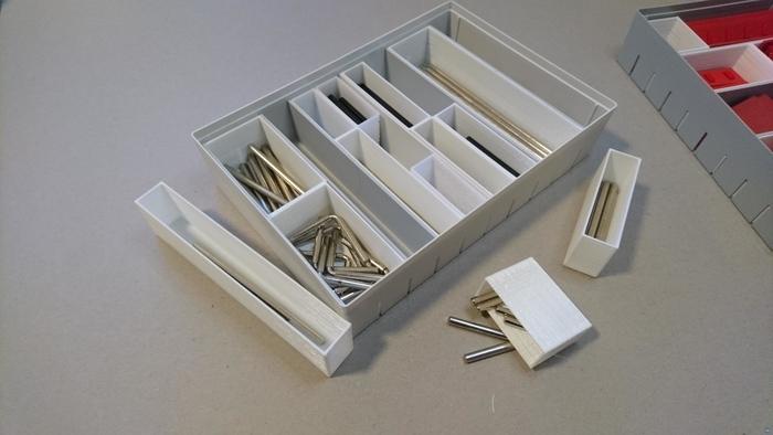 Organizer boxes for fischertechnik