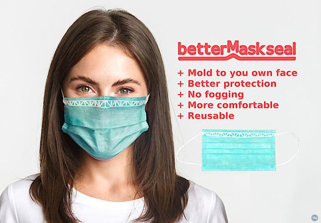 BetterMaskSeal moldable nose strip