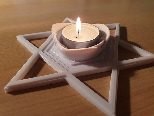 Star of David (tea light holder)