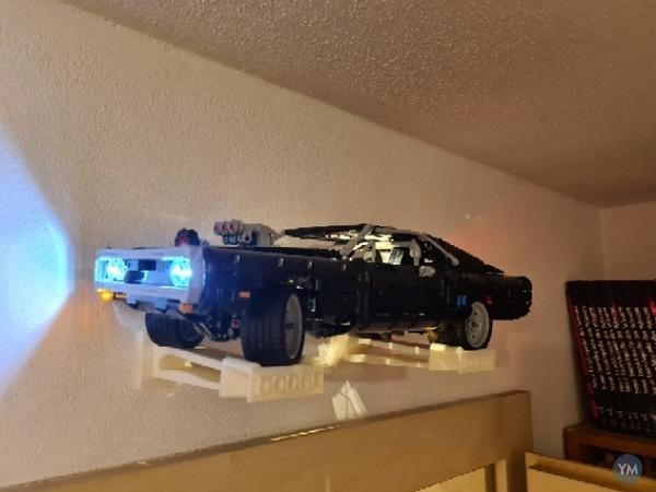 LEGO Dodge Challenger wall mount