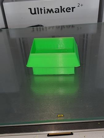 raised bottom in a box