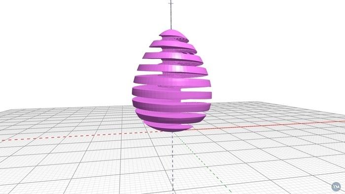 Spiralised Easter Egg