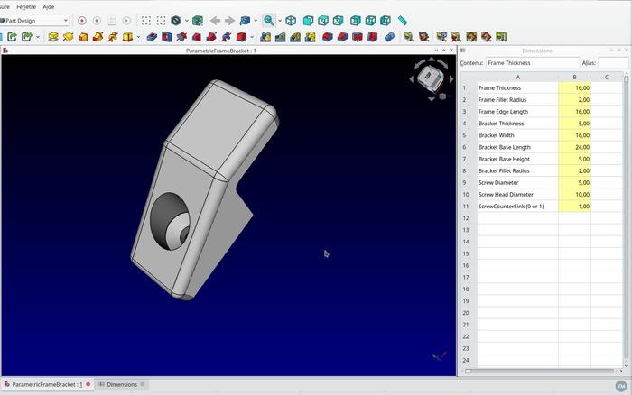 Parametric Frame Bracket