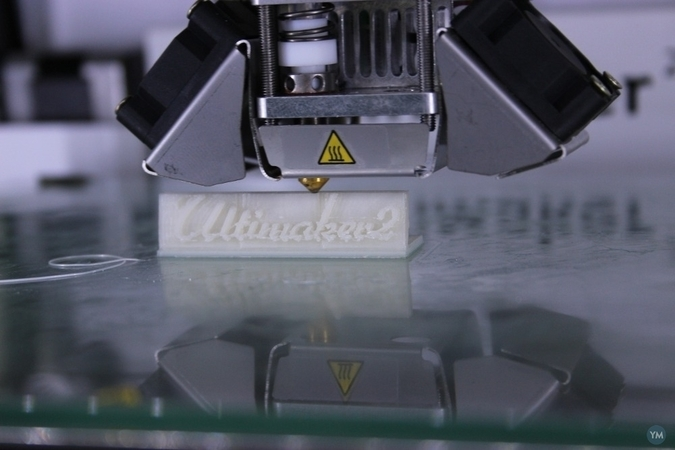 The Name Ultimaker² for table presentation.