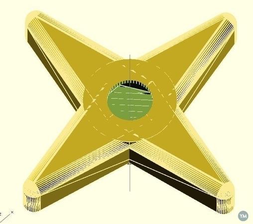 Starshape Nut/Bolt thumb wheel