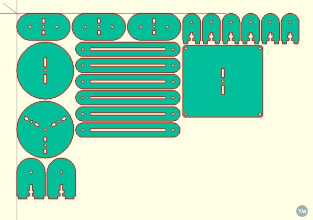 Laser cuttable tripod