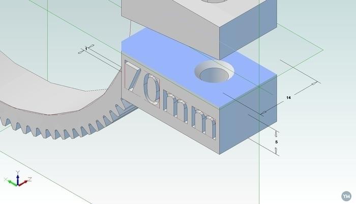 labeled lensgear-set for Geared Follow Focus