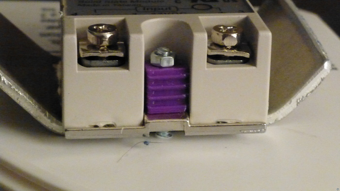 Safety cover for solid state relay