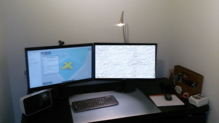 Monitor mount for IKEA Tived Lamp