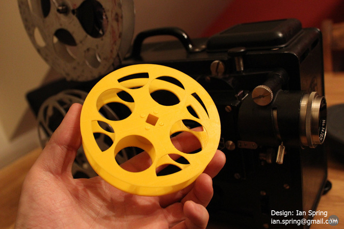 16mm Home Movie Film Reel Holder for European Square Whole Projectors