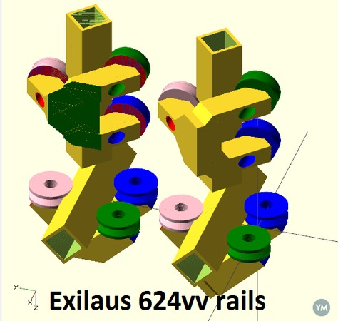 624VV vgroove rails