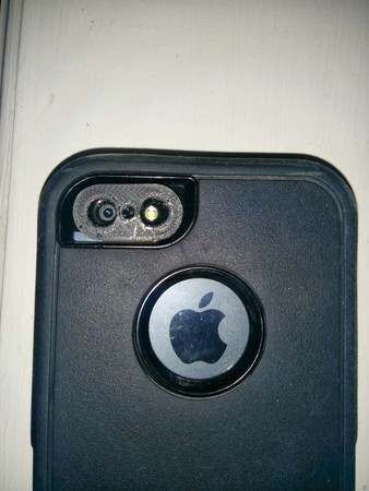 iPhone 5 Otterbox Defender Series Laser Pointer Lens Holder for Macro Photography
