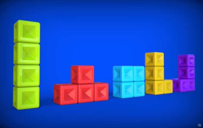 Printable tetris