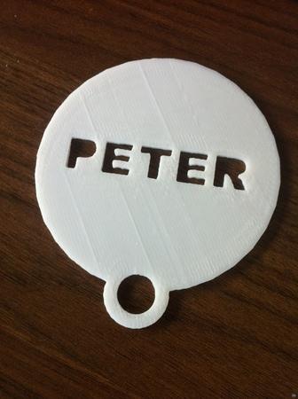Coffee plate (customized)
