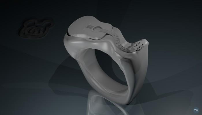 Acoustic guitar ring