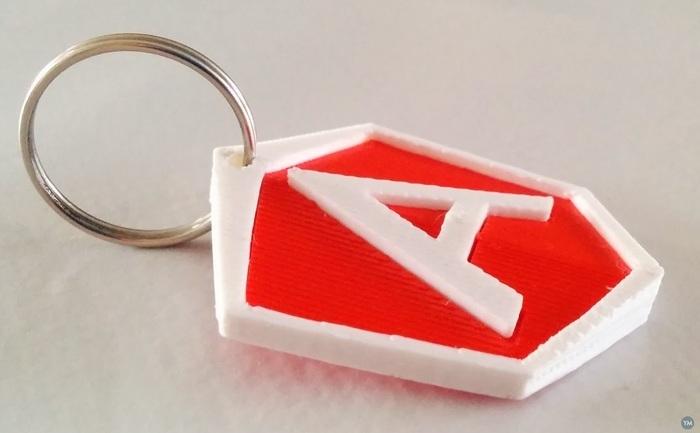 AngularJS logo keychain