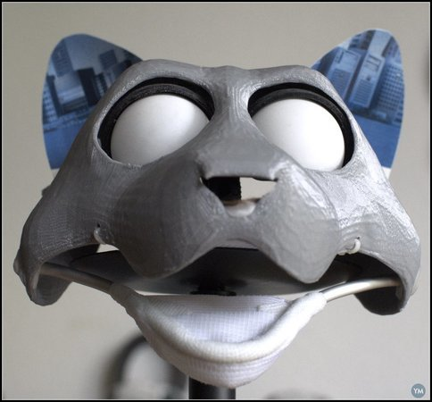 Costume- or hand-puppet-head base - version10