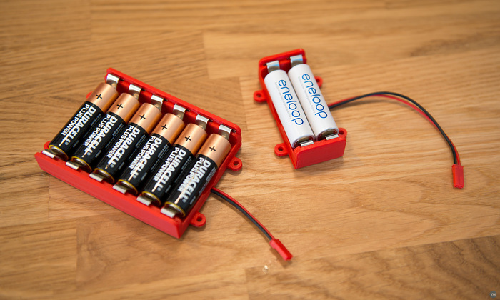 Battery box for AA cells