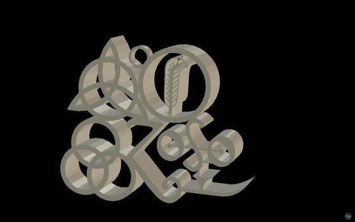 Led Zeppelin IV symbols necklace pendant