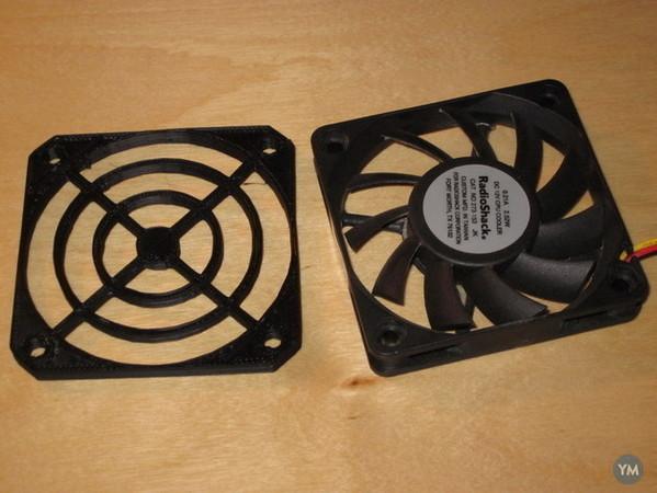 Parametric fan grille