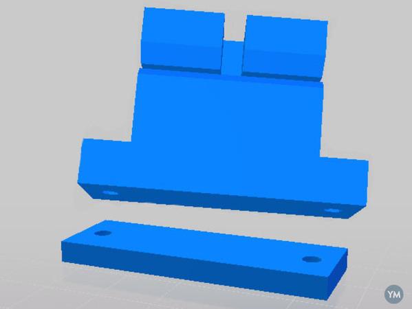 Prusa i3 Y Belt Spacer & Extended Y Belt Holder (For Tall LM8UU Holders)