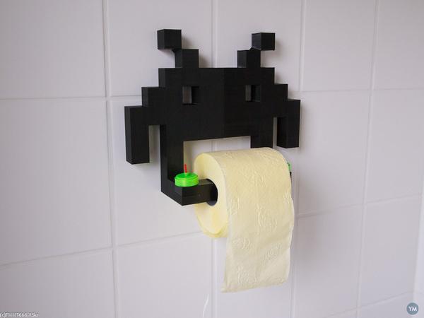 Invader Toilet Paper Roll Holder