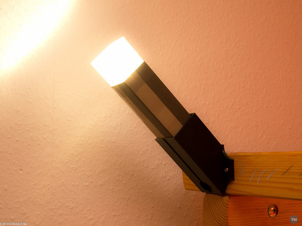 Minecraft Torch with Wall Mount