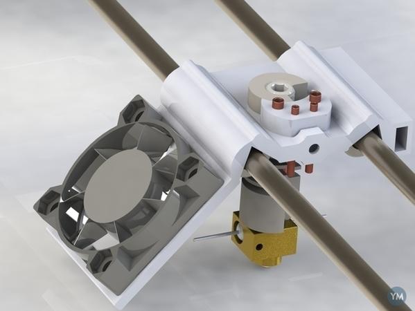 Experimental Light Weight X-Shuttle with Fan Mount