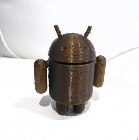 Android with pre-assembled arms