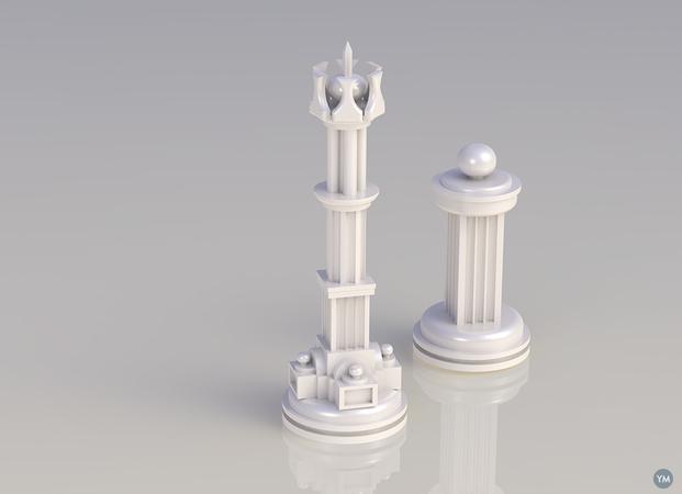 Pompous Chess Pieces