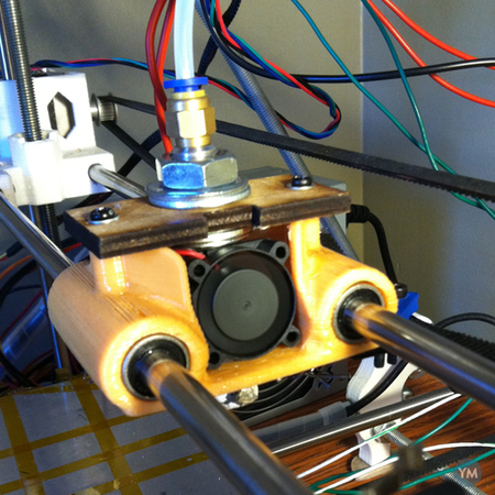 Bowden extruder carriage for Prusa Mendel