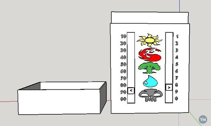 MTG Cardbox with sliding life counter
