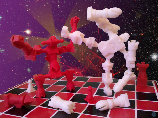Chessbot Monster Transforming Chess Set