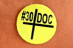 30 Do C Badge Printed Display Large Display Large