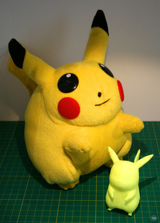 Easier to print Pikachu with tail and feet #30DoC Day 14