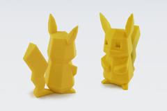Pikachu Low Poly Pokemon Flowalistik Youmagine