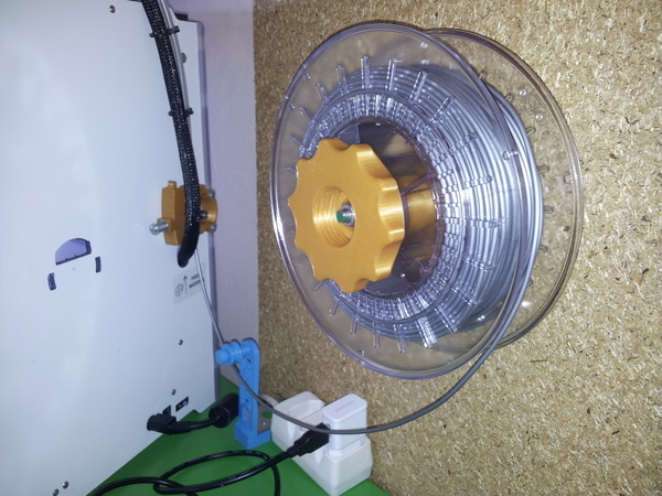 Wall mount for low friction spool holder