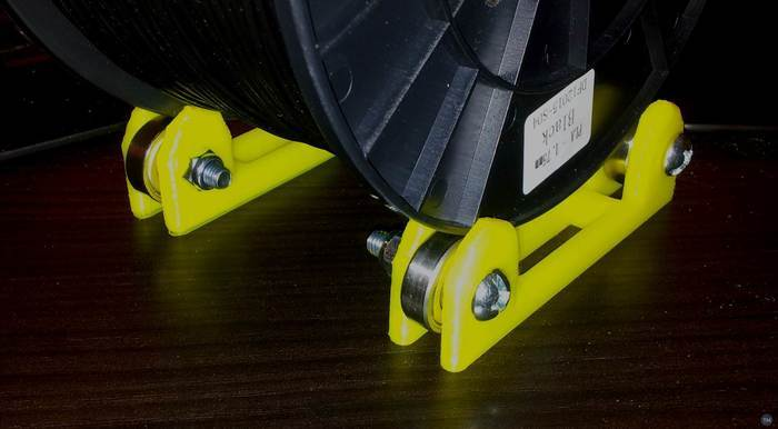Filament Tabletop Spool Holder Roller for 608Z Bearings