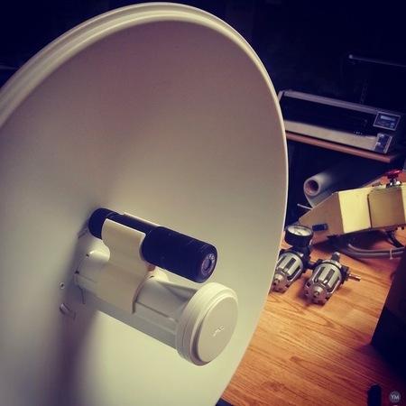 Laser mount for Ubiquiti Powerbeam