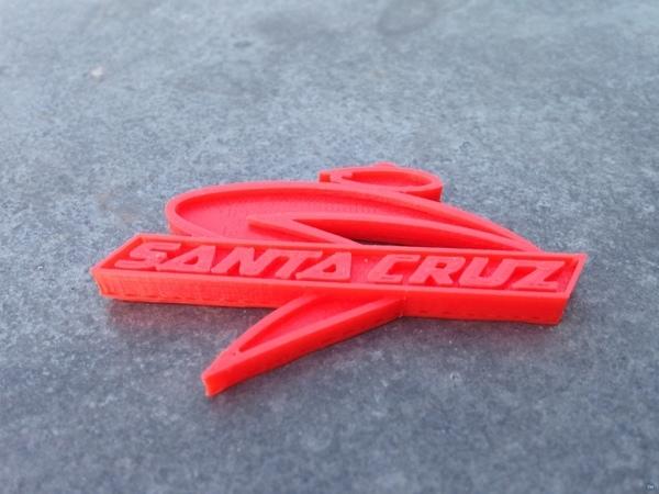 Bike KeyChain SantaCruz Logo