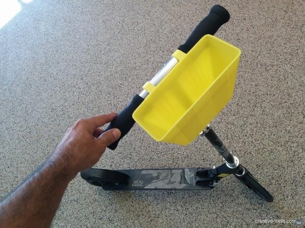 Kick scooter basket carry basket