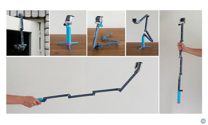 GoPro counter balance folding stick.