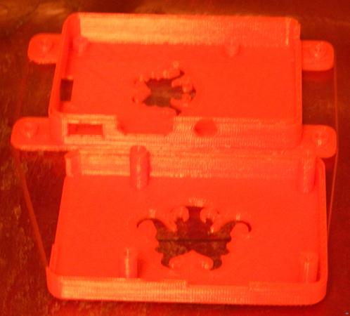 RichRap's RasPi Model B Case With OctoPrint branding and MM2 Bracket.