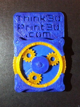 Business card with planetary gears
