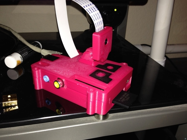 Printrbot Octoprint Wi-Fi-Pi camera case front for dual extruder