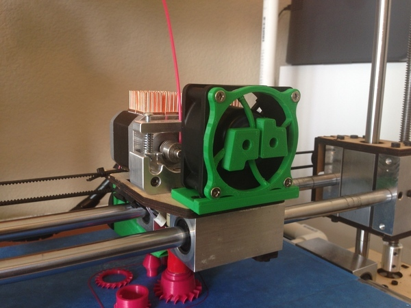 Printrbot Plus 1404/2.4 Dual Extruder 60mm Extruder Fan Mount
